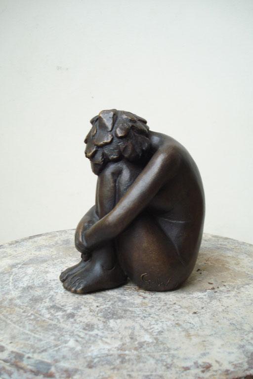 En Dedans, bronze, 10 cm, Québec