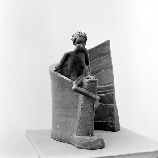 La rampe, bronze, 38 cm, Belgique