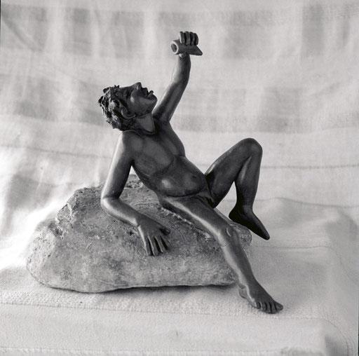 Bacchus II, bonze, 27 cm, Belgique.     photo : Luc Stokart