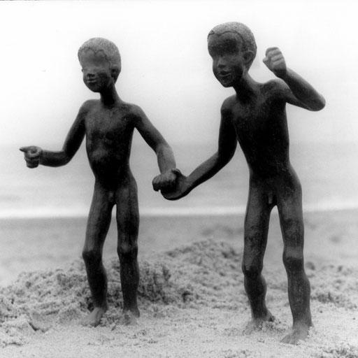 La course, bronze, 18 cm, Belgique