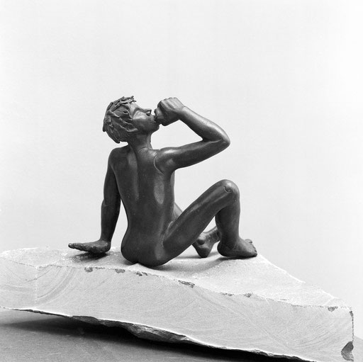 Bacchus I, bronze, 20 cm, Belgique.     photo : Luc Stokart