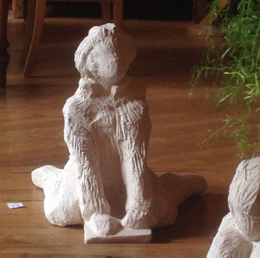 Sur le point..., 12 cm, en bronze sur commande, Belgique