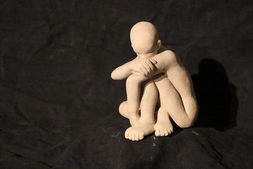 tristesse II, en bronze sur commande, 10 cm, Québec