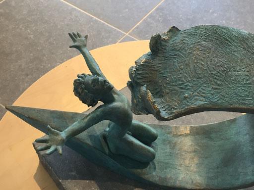 La chaloupe, bronze, 28 x 40 cm, Belgique