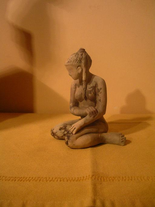 Pensive, en bronze sur commande, 10 cm, Belgique