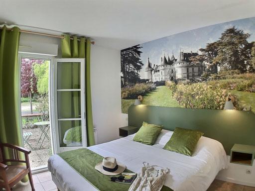Chambres au rez-de-chaussée avec terrasse