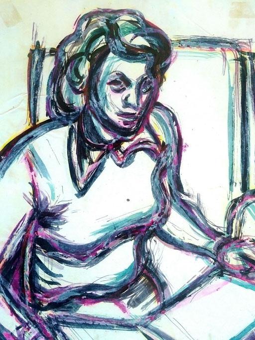 Florence 04, encre sur paapier, A4, 1980