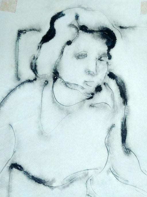 Florence 02, encre sur paapier, A4, 1980