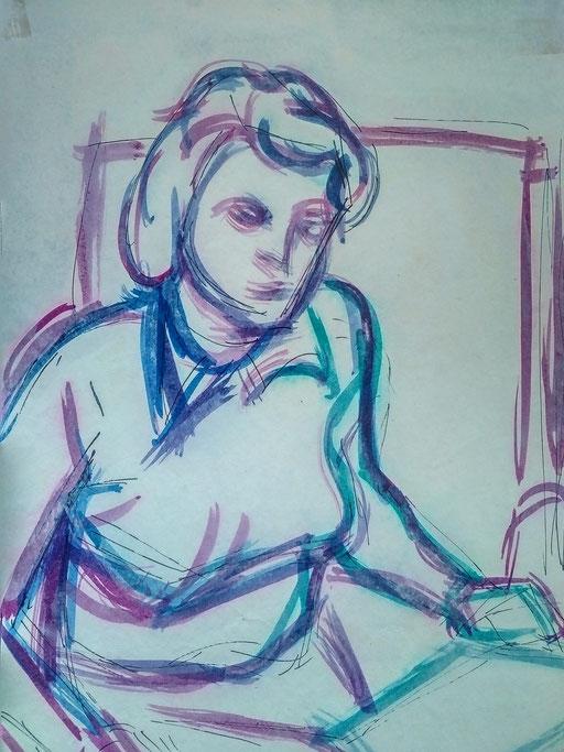 Florence 12, encre sur paapier, A4, 1980