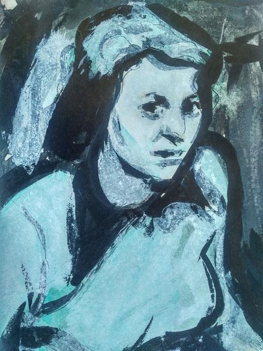 Florence 15, encre sur paapier, A4, 1980