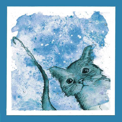 Katze_Aquarell Kunstdruck © Britta Jessen