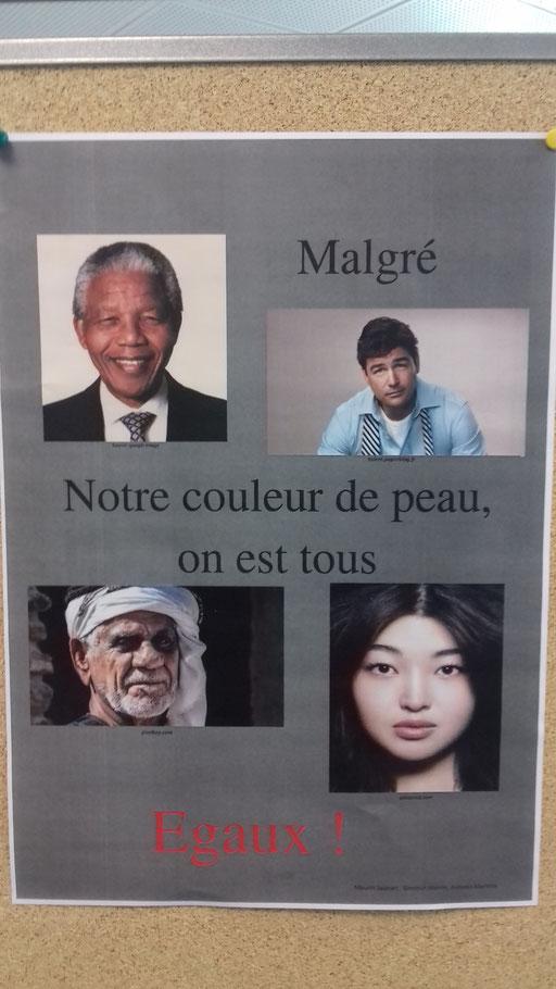 Lutte contre le racisme par Melvin, Maurin et Antonin