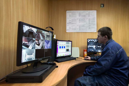 The Control Room for separations by micro-rays technology of metallurgical slags at the Klyuchevsky Ferroalloys Plant (KFP). UCEE took part in discussion of the aspects of realization of this ecological project on processing of technogenic waste in 2008