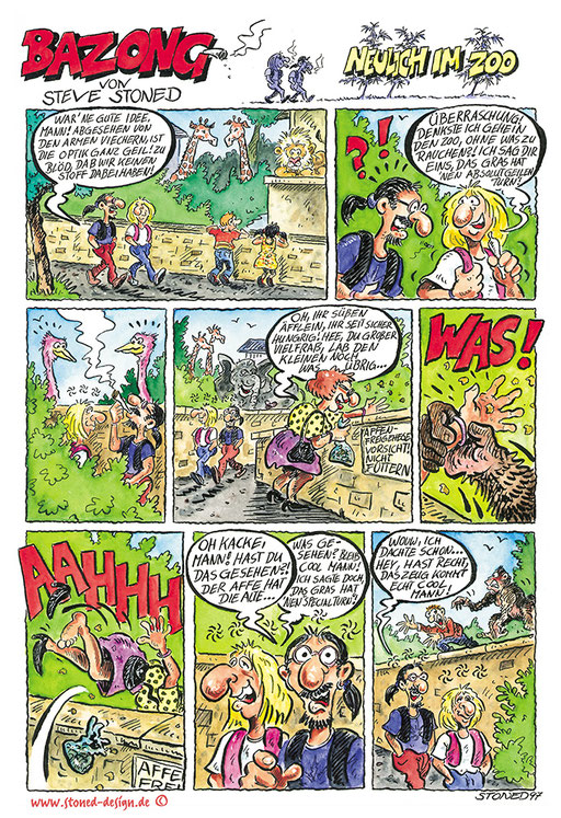 Bazong Comic - Hanf! Magazin - ink & watercolours