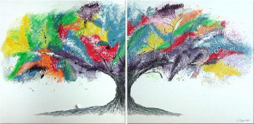Acryl auf Leinwand je 50 x 50 cm