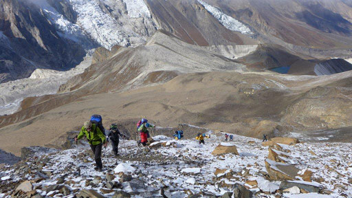 Himlung Expedition, Expedition zum Himlung, Himlung besteigen, Gipfelerfolg am Himlung in Nepal