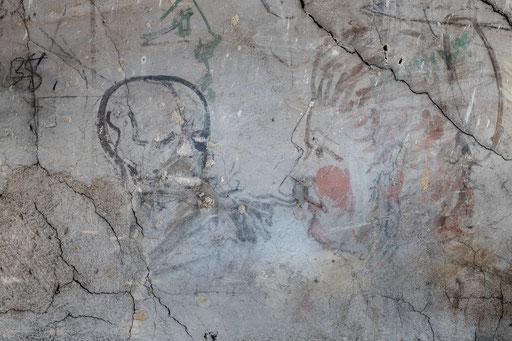 Alte Wandzeichnungen fand ich auf dem Dachboden.