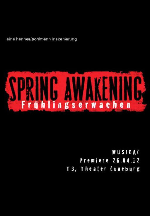 2012 Frühlings Erwachen ist ein Musical von Duncan Sheik und Steven Sater, das auf dem gleichnamigen Drama von Frank Wedekind basiert. Das zur damaligen Zeit kontroverse Werk aus dem Jahr 1891 spielt im Deutschland des späten 19. Jahrhunderts.