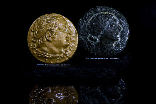 プトレマイオス1世のコイン&クレオパトラ7世のコイン