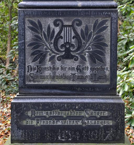 Ostfriedhof Dortmund, Grabmal des Kammersängers Heinrich Borgmann