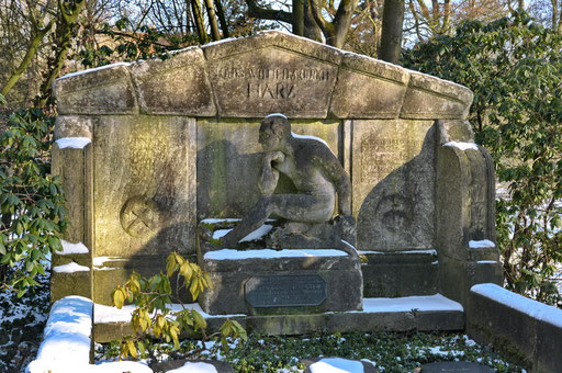 Ostfriedhof Dortmund, Grabmal Harz / Danco