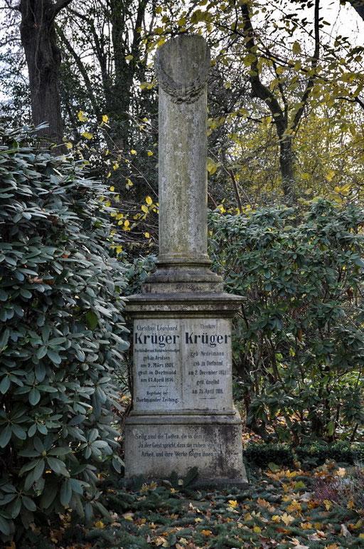 Ostfriedhof Dortmund, Grabmal Christian Leonhard Krüger (1839-1936), Buchhändler und Druckereibesitzer