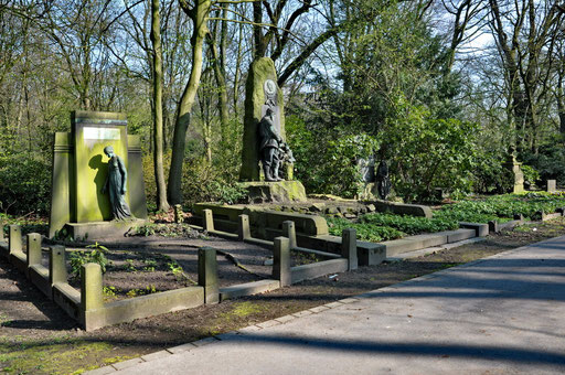 Ostfriedhof Dortmund, Hauptweg