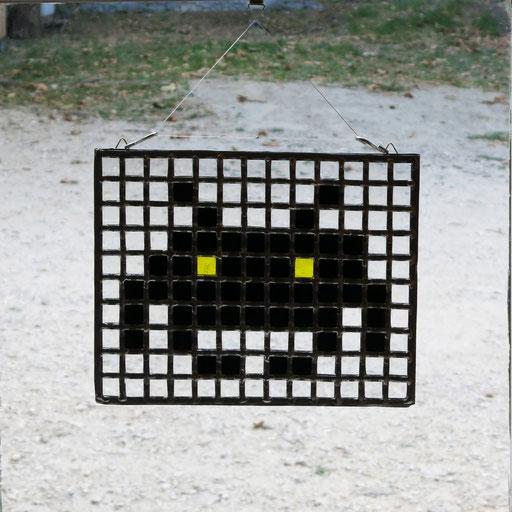 "Sun catcher ""Space Invader"" , 35x20cm"