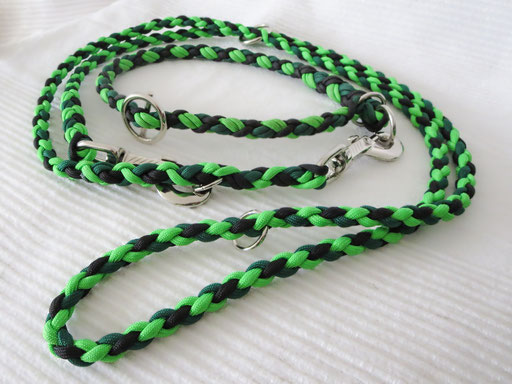Leine mit passendem Schlupfhalsband (ca. 55 cm): kelly green, neon green, black
