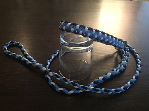 Agi-Leine in weiß, hellblau und dunkelblau für Colwin und Marina!