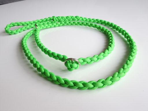 Retrieverleine: 4-fach geflochten: neon-grün