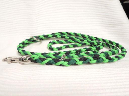 Leine, verstellbar, 4-fach geflochten: kelly green, neon green, black