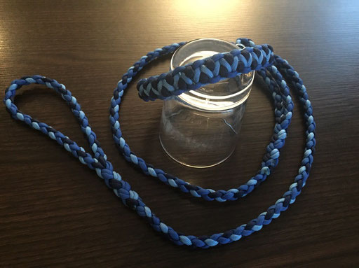 Agi-Leine in dunkelblau, blau und hellblau!