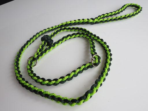 Retrieverleine, 4-fach geflochten mit zusätzlichem Stopp (PP-Schnüre): kiwi, dunkelgrün