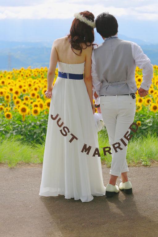 ひまわりウェディング ひまわりフォトウェディング ひまわり結婚写真 ひまわり結婚式前撮り