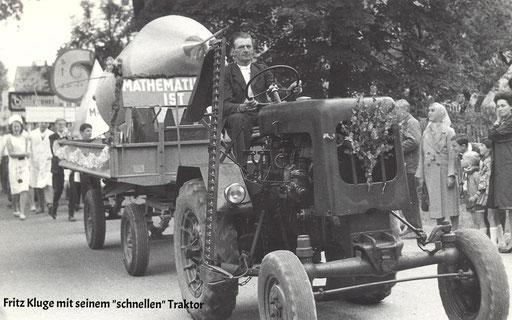 Wünschendorf Erzgebirge Schul und Heimatfest 1965 Fritz Kluge beim Festumzug