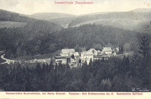 Wünschendorf Erzgebirge 1920 Neunzehnhain