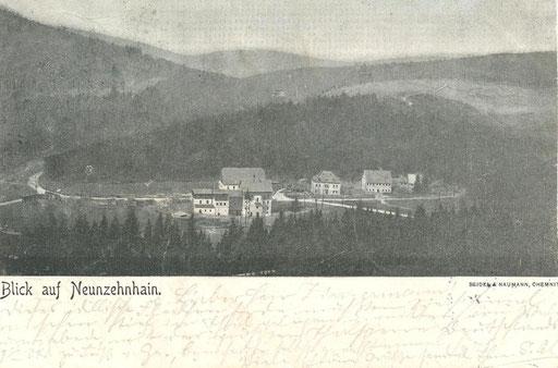Wünschendorf Erzgebirge um 1900 Neunzehnhain