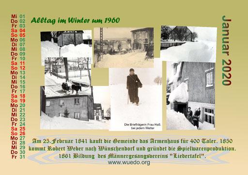 650 Jahre Wünschendorf Festkalender 2019 und 2020