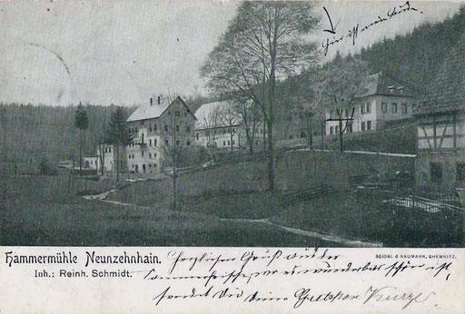 Wünschendorf Erzgebirge 1905 Neunzehnhain