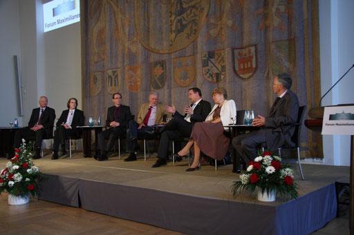 Von links nach rechts: S.D. Hans Adam II., Oehl, Schaal, Voß, Fahrenschon, Schwan, Ottmann