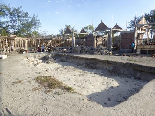 Bild: Baustelle eines neuen Hotels auf Gili Meno