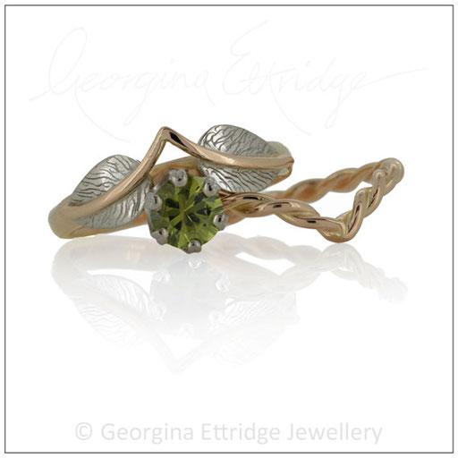 Rose Gold Wedding Bridal Rings
