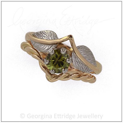 Leaf & Wishbone Nature Inspired Wedding Rings
