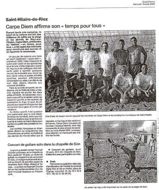 Ouest France - 18 août 2004