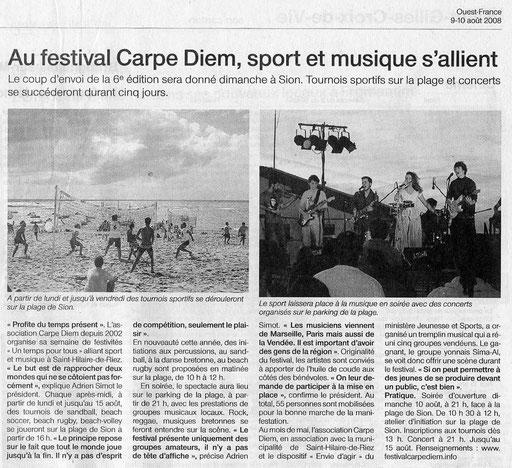 Ouest France - 9-10 août 2008