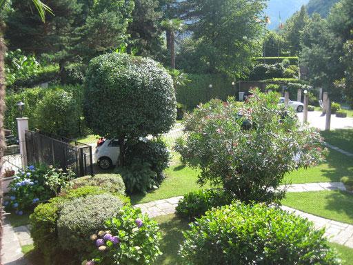 Gartenansicht von oben