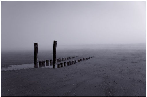 Nebel am Meer I  monochrom (Domburg, NL)