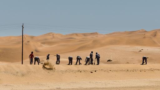 Viel Sand auf den Gleisen
