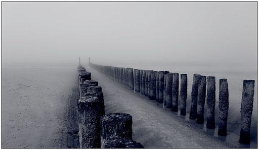 Nebel am Meer II  monochrom (Domburg, NL)